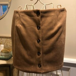 WILD FABLE Faux Suede Tan Skirt